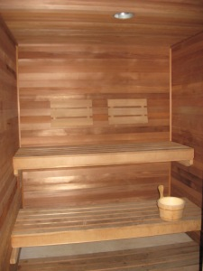 Break a sweat in the sauna.