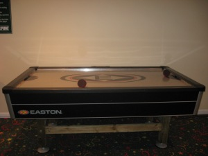 Enjoy a game of Air Hockey.