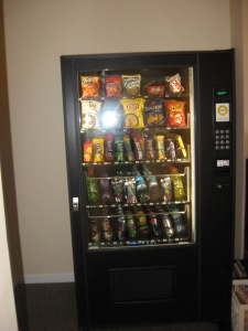 Hungry? Why wait! Enjoy our new vending machine.